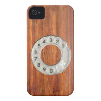 Funny vintage wood dial phone iPhone 4 Case-Mate cases