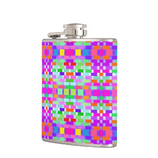 funny vivid pattern 9 (C) Flask