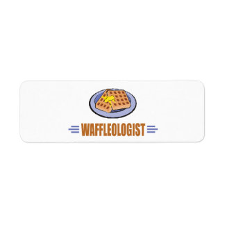 Funny Waffle Return Address Label
