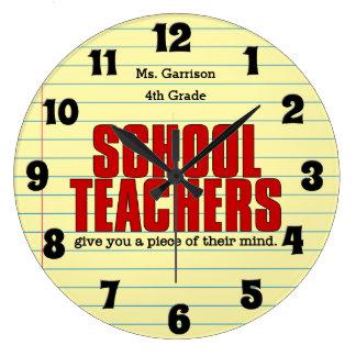 Funny Wall Clock for Schoolteachers