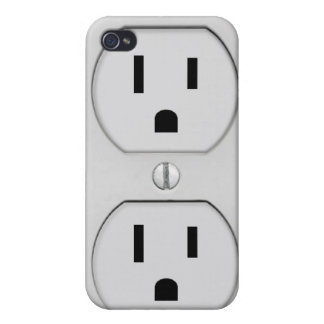 Funny Wall Socket Plug G4 iPhone 4 Case
