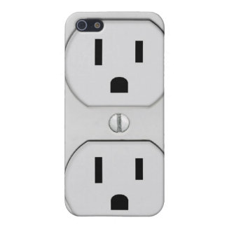 Funny Wall Socket Plug G4 Cover For iPhone 5