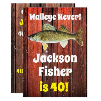 Funny Walleye Fisherman's Birthday Card
