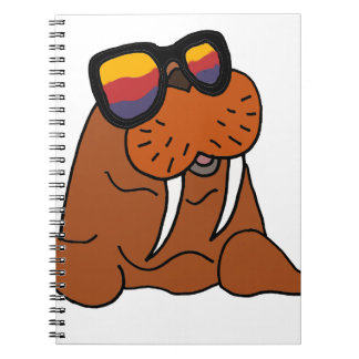 Funny Walrus Wearing Sunglasses Spiral Note Book