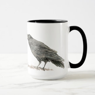 Funny Want Cake with Coffee? Ravens Bird Mug