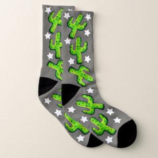 Funny Watercolor Cactus & Stars 1
