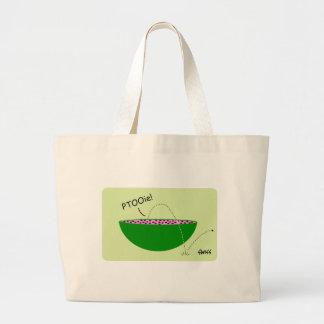 Funny Watermelon and Seeds Cartoon Jumbo Tote Bag
