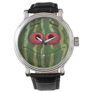 Funny Watermelon Emoticon Watch