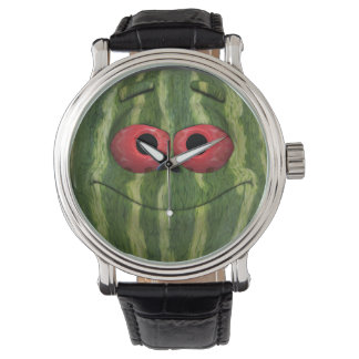 Funny Watermelon Emoticon Watches