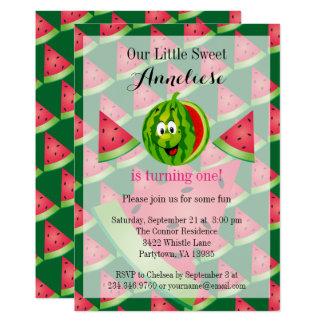 Funny Watermelon Kid's Birthday Card