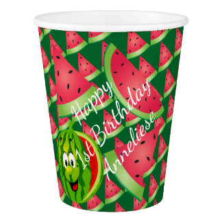 Funny Watermelon Kid's Birthday Theme Paper Cup