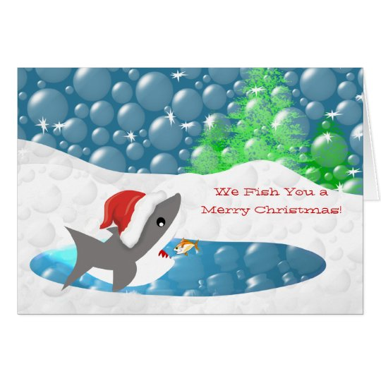 Funny - We Fish You a Merry Shark Christmas Card