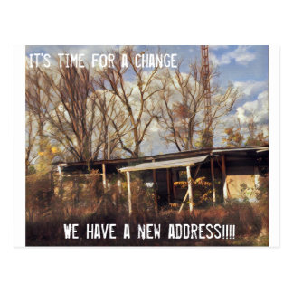Funny we have a new address old trailor postcard