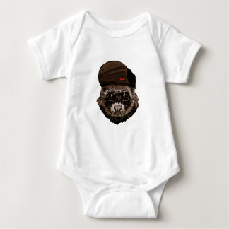 Funny Weasel with Hat Baby Bodysuit