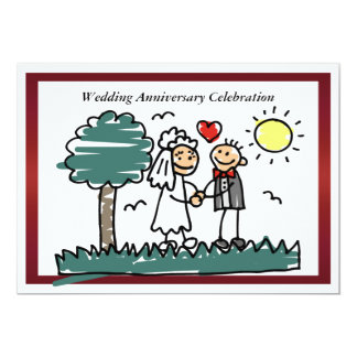 "Funny Wedding Anniversary Invitation 5"" X 7"" Invitation Card"