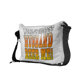 Funny Wedding Anniversary Worlds Greatest Husband Messenger Bag