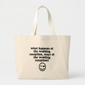 Funny wedding reception tote bags