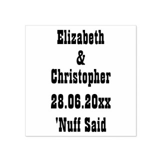Funny Wedding Save the Date Custom Personalized Rubber Stamp