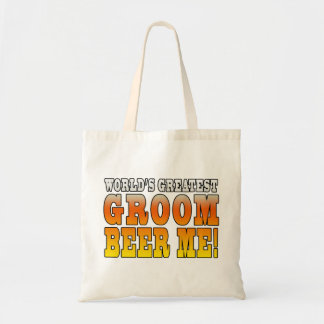 Funny Weddings Parties Worlds Greatest Groom Canvas Bags