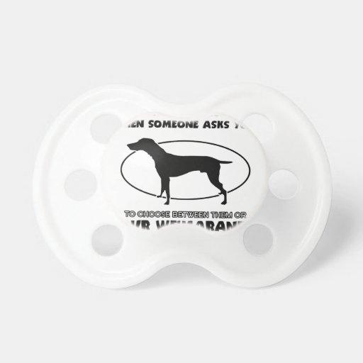 Funny weimaraner designs baby pacifier