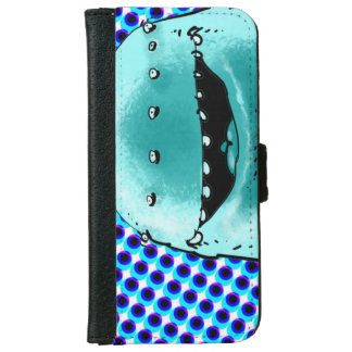 funny weird alien cartoon style illustration iPhone 6 wallet case