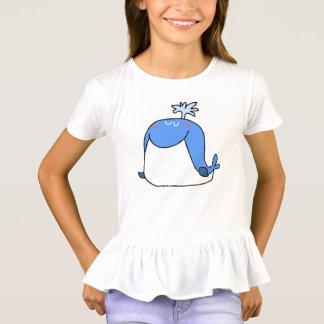 funny whale children animals cartoon T-Shirt