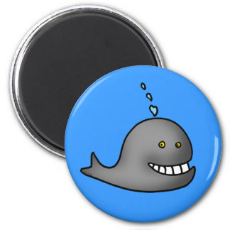 Funny whale magnet