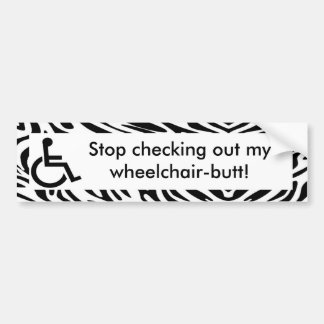 Funny wheelchair bumper stickers