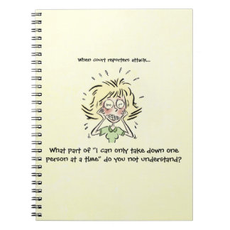 Funny When Court Reporters Attack Notebooks