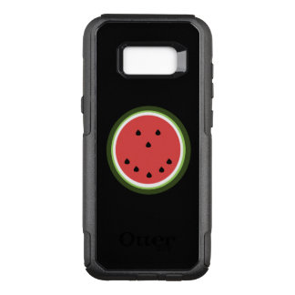 Funny whimsical smiling watermelon OtterBox commuter samsung galaxy s8+ case