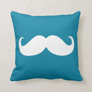 Funny White Mustache 27 Throw Pillow