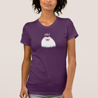 Funny White Pomeranian Cartoon Dog LOL T-Shirt