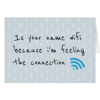 Funny Wifi Connection and Arrows Pattern Card