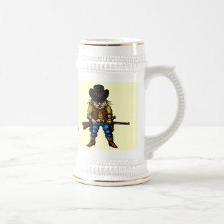 Funny wild west beer mug