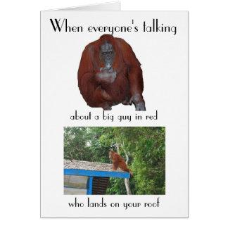 Funny Wildlife Christmas Card