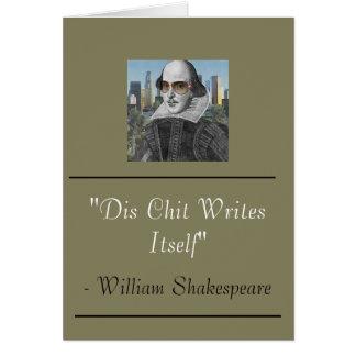 Funny William Shakespeare Card