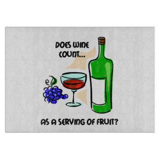 funny wine cutting board