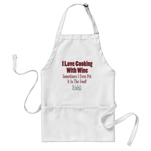Funny Wine Design Aprons
