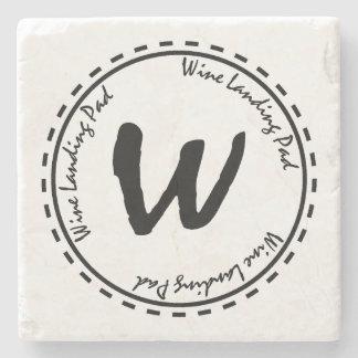 Funny Wine Glass Landing Pad Stone Coaster