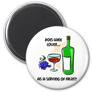 Funny wine humor saying 2 inch round magnet