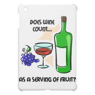 funny wine iPad mini cases