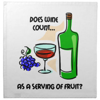 funny wine printed napkins