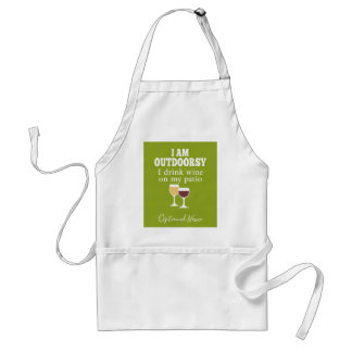 Funny Wine Quote - I drink wine on my patio Standard Apron