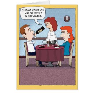 Funny Wine Taster Birthday Card