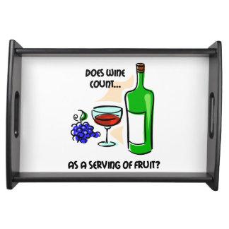 funny wine tasting service trays