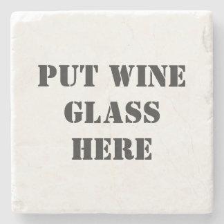 Funny Wine Tasting Stone Coaster