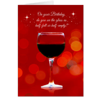 Funny Wine Themed Birthday Card