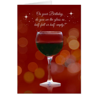 Funny Wine Themed Birthday Card