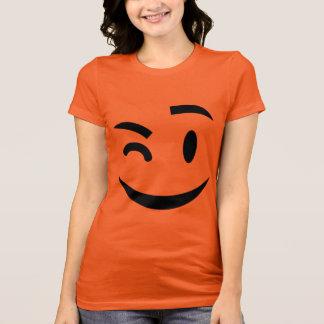 Funny winking at you emoji T-Shirt