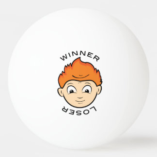 Funny Winner Loser Ping Pong Faces Ping Pong Ball